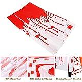 PBPBOX Halloween Blutige Tischdecke Abwaschbare 274*137CM Halloween Tischdeko