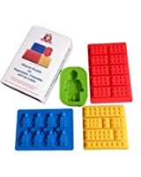 Bricks and People Silicone Moulds - Set of Four Boxed with Instructions.