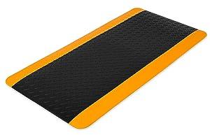 Internet's Best Anti Fatigue Comfort Mat | Cushioned Non-Slip Workshop Garage Office Standing Desk Mat | Ergonomic Floor Mat for Market Booths | Waterproof | 38.75 x 19.75 inches | Black