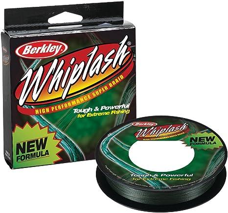 65 lb Berkley Unisexs Whiplash Braided Superline-Green