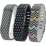 Hopcentury Bracelet de rechange pour Fitbit Flex avec fermeture sécurisée translucide et fermoir en métal–Petite ou Grande taille