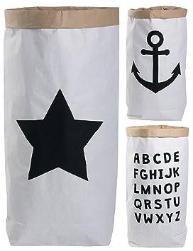 19dd5580d Lifestyle Lover Saco de Papel Paper Bag Redondo Papel Kraft Bolsa marrón  Blanco: Amazon.es: Hogar