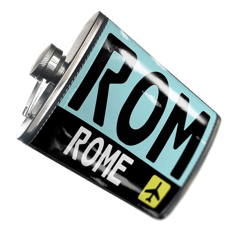 8オンスフラスコステッチAirportコードRom /ローマ国:イタリアステンレススチール – Neonblond   B00QQVFH1Y