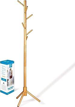 Amazon.com: High-Grade Wooden Tree Coat Rack Stand, 6 Hooks
