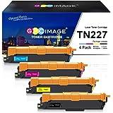 GPC Image Compatible Toner Cartridge Replacement for Brother TN227 TN-227 TN227bk TN223 fit for HL-L3210CW HL-L3230CDW HL-L3270CDW HL-L3290CDW MFC-L3710CW MFC-L3750CDW MFC-L3770CDW Printer (4 Pack)