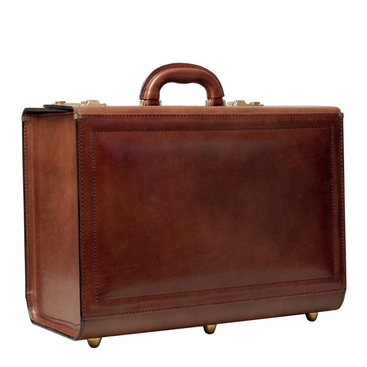 a5320da46cb07 Amazon.com | Maxwell Scott Luxury Tan Luxury Pilot Case (The Varese) - One  Size | Luggage