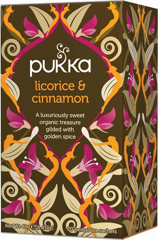 Pukka Herbs Organic Licorice and Cinnamon Pack of 20 Sachets