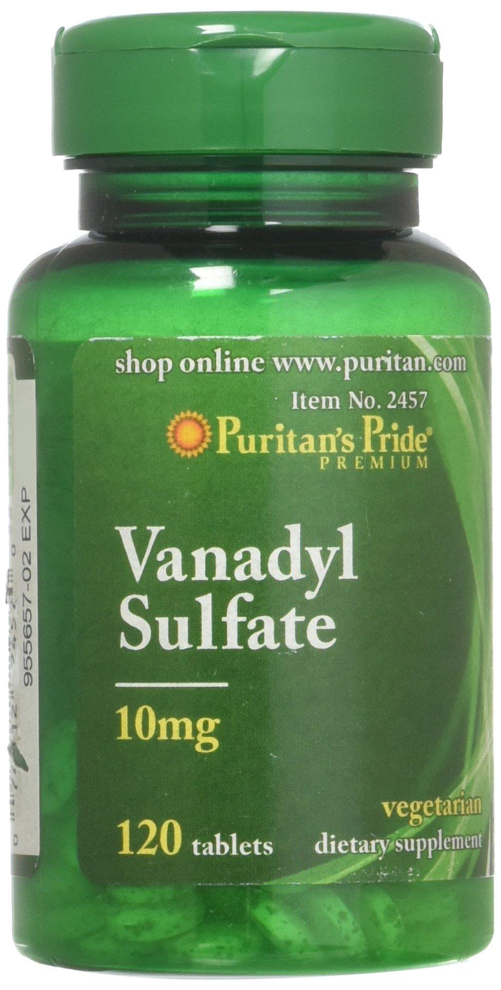 Puritans Pride Vanadyl Sulfate 10 mg-120 Tablets