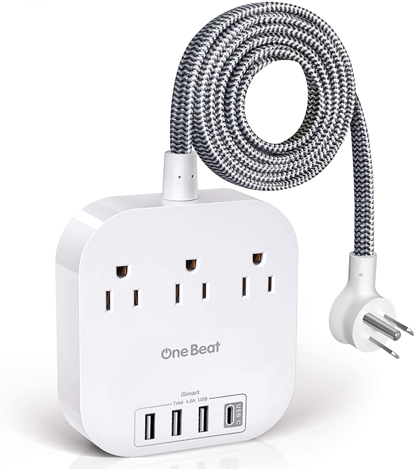 One Beat 3 Outlets 4 USB Ports 5ft Power Strip $15.24 Coupon