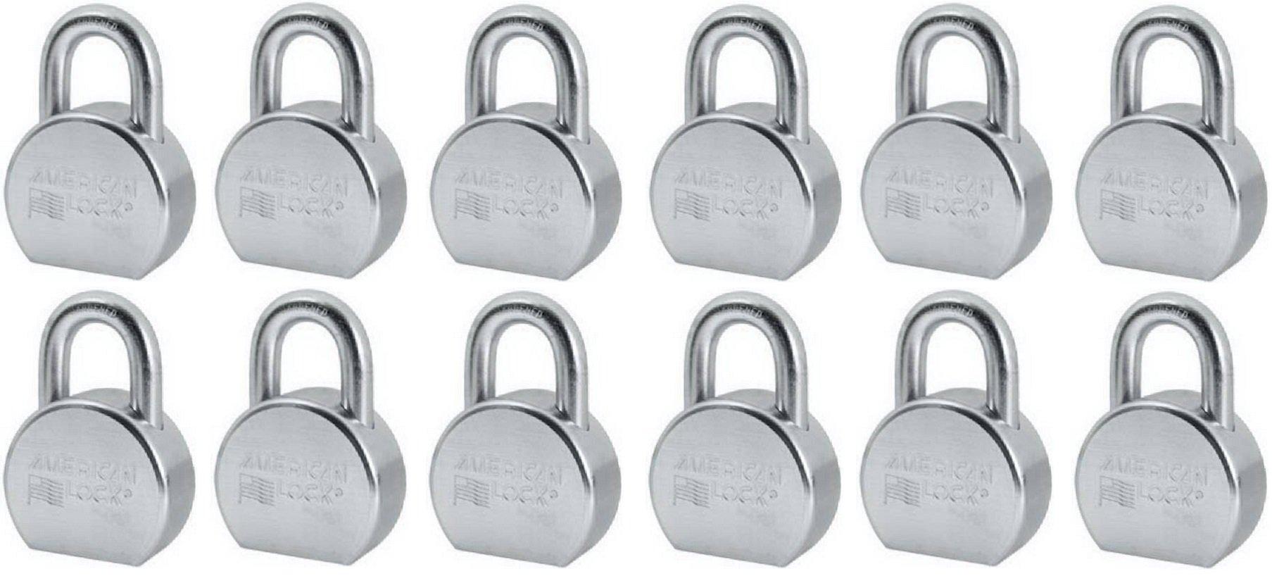 Master / American Lock A702KA35852 2-1/2'' Round Keyed Alike Steel Padlocks - Quantity 12