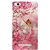Clapcart Flower Printed Mobile Back Cover Case For Xiaomi Mi4i -Multicolor