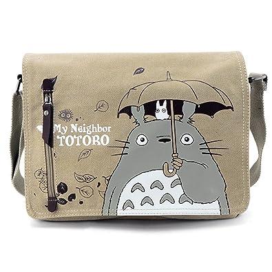 018d76ee22 YewNeak My Neighbor Totoro Cute Canvas Shoulder Sling Bag Messenger   Amazon.co.uk  Luggage