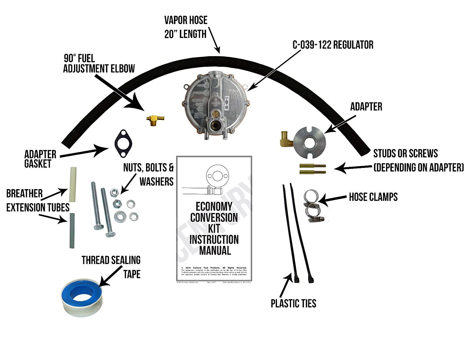 Predator 68530 Gen 8750 Natural Gas Propane Small Engine Components Diagram Conversion Kit Garden Outdoor