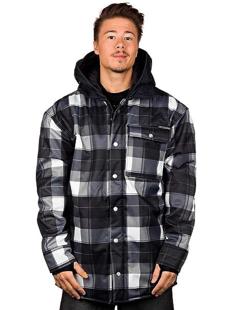 Sessions Outlaw Plaid Softshell Black Plaid Jacket for Men