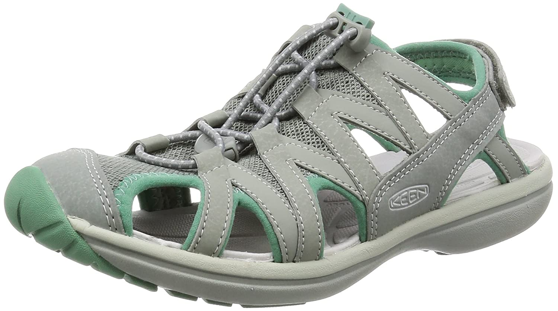 KEEN Women's Sage Sandal B01H8GBE08 8.5 B(M) US|Neutral Gray/Malachite