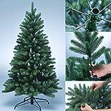 Albero artificiale di natale PREMIUM 100% in polietilene - albero di Natale appena infiammabile con aghi e punte stampati ad iniezione in PE - Dimensioni diverse da scegliere, Dimensione:150 cm