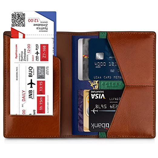 9b27a358d9dd Amazon.com: OOTOMI Passport Holder Cover Genuine Leather Passport ...
