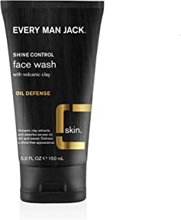 product image for Every Man Jack Volcanic Clay Face Wash, Oil Defense, Fragrance Free, 5-ounce