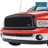 EAG Rivet Studded Frame Black Stainless Steel Wire Mesh Packaged Grille Fit for 02-05 Dodge Ram 1500/03-05 Dodge Ram 2500/3500