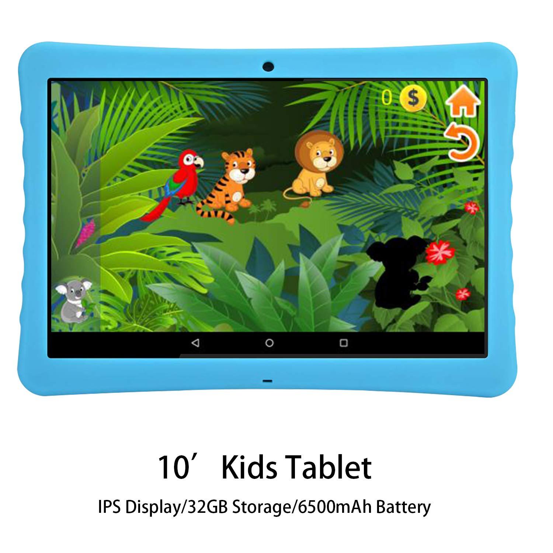 Tablet para Niños 10 Pulgadas 4G IPS/HD, 2GB RAM 32GB ROM, Dual SIM Dual Cámara Batería de 8500mAh, Android 7.1 Procesador de Quad-Core, Tablet PC ...