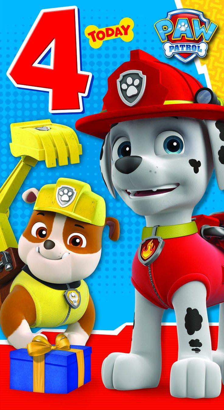 Souvent Paw Patrol Have a Pup-Tastic 4th Birthday Greeting Card: Amazon.co  YW13