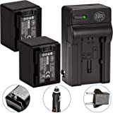Fully Decoded Pack of 2 BP-727 Batteries And Battery Charger for Canon Vixia HFM50 HFM52 HFM500 HFR30 HFR32 HFR300 HFR40 HFR42 HFR400 HFR50 HFR52 HFR500 Camcorder + More!!