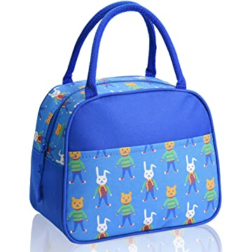 Lunch Box Lunch Boxes for Kids Insulated Lunch Bag(Blue)