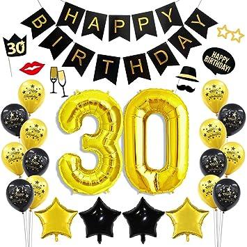 30 Geburtstag Party Dekoration Kit 30 Gold Anzahl Ballons Alles