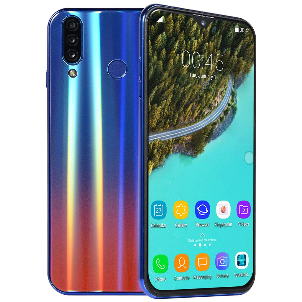 QYuan 6.3'' HD Display Screen Smartphone 64GB+1GB RAM+8GB ROM Android 8.1 8 Core Dual SIM Card Unlocked Phone (Blue) by QYuan