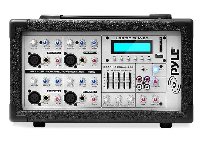 PylePro PMX402M - Mesa de mezclas (USB, MP3, 4 canales): Amazon.es ...