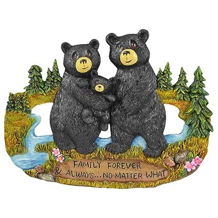 Pine Ridge Family Forever Black Bear Inscribed Family Forever & Always No  Matter What Home Decor Figurines - Wildlife Animal Barefoot Lodge ...