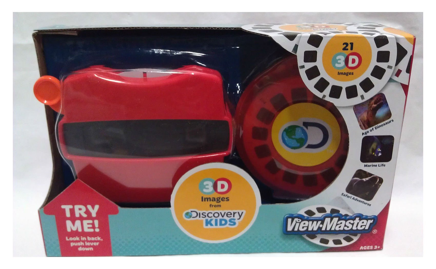VIEW-MASTER VIEWMASTER 21 3D images DISCOVERY KIDS Dinosaurs marine safari NEW by na (Image #1)