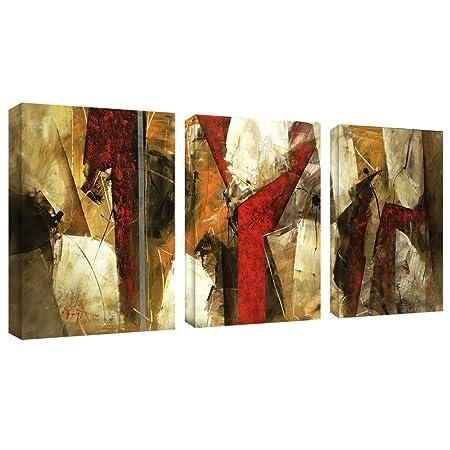 Abstract IX by Master s Art Canvas Wall Art, Three 14×19-Inch