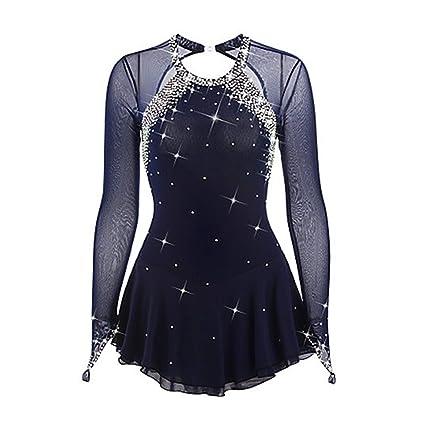 D&uDesign Vestido De Patinaje ArtíStico para Niñas Vestido de Patinaje sobre Hielo para Mujer Competición de