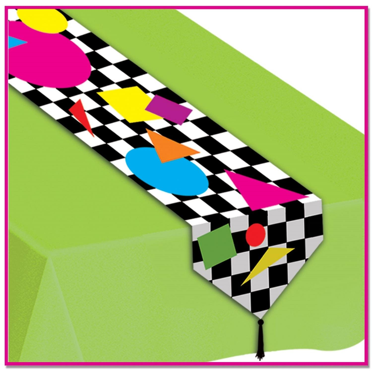 Amazon com: Club Pack of 12 Retro 80's Party Shapes Table