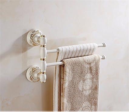 XXSZKAA Acontecimientos Europeos Toallero Accesorios De Baño Toallero Giratorio Creativo Colgar Toallas Baño Baño Toallas Blancas