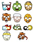 Zion Judaica Passover Ten Plagues of Egypt Cartoon Glasses 10 Full Face Characters