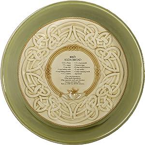 Grasslands Road 461123 Celtic 9-Inch Irish Claddagh Dish with Soda Bread Recipe, Silver