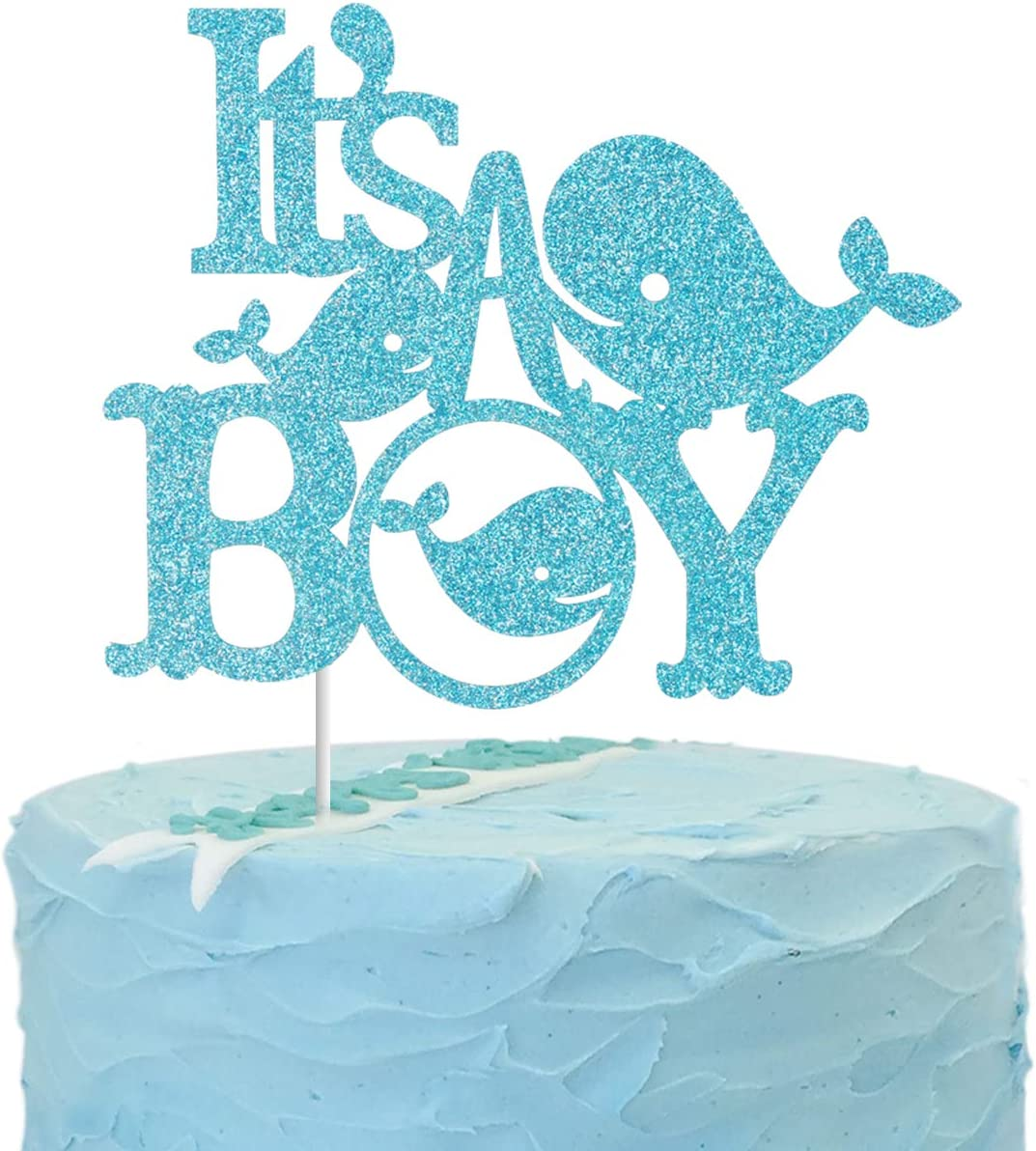 Reveal Party Cake Topper Gender Reveal Cake Cake Topper Baby Shower Glitter Cake Topper Gender Reveal Party Party Decorations