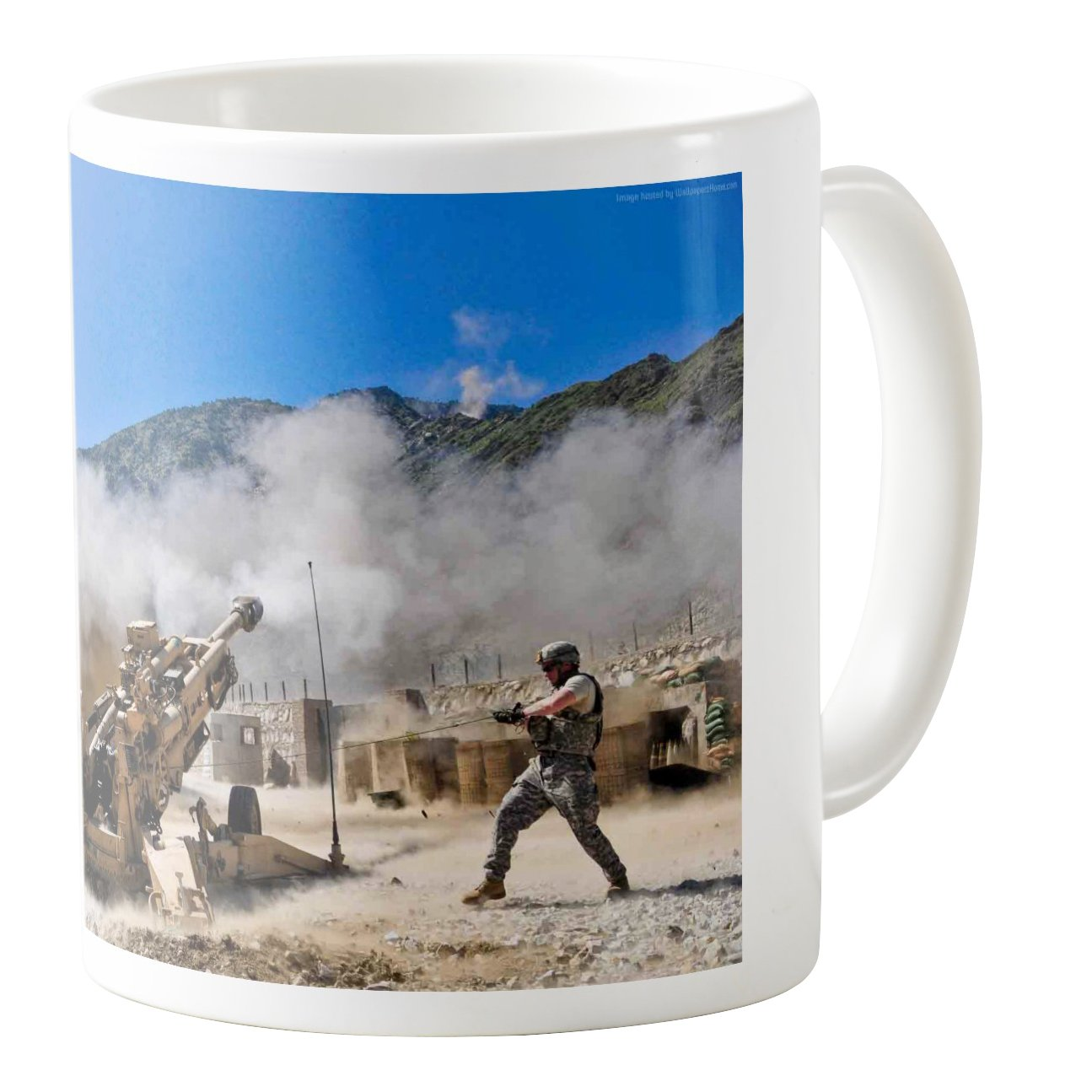 AquaSakura 11oz Ceramic Coffee Mug Tea Cup Artillery Us Army