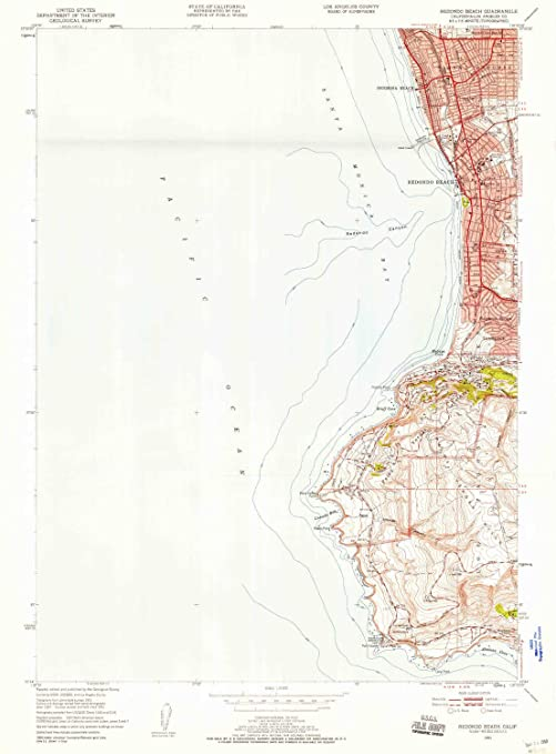 Amazon Com Yellowmaps Redondo Beach Ca Topo Map 1 24000 Scale