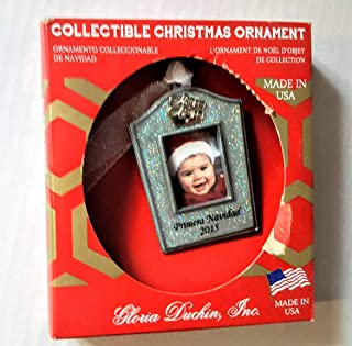 product image for Gloria Duchin Collectible Christmas Pewter Ornament Primera Navidad 2015