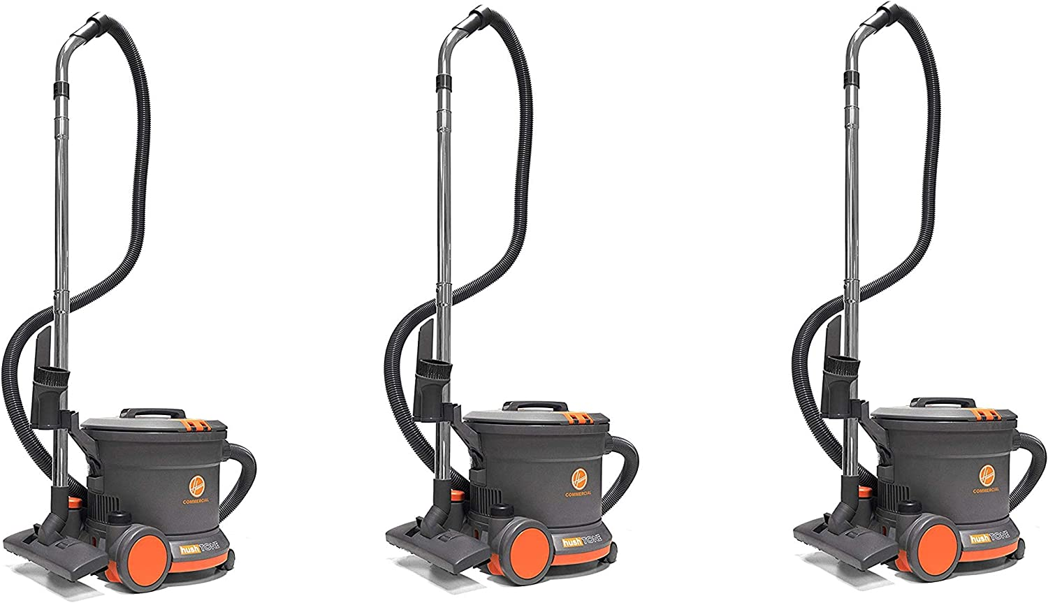 Hoover Commercial CH32008 Hush Tone Canister Vacuum, 9 L (Pack of 3)