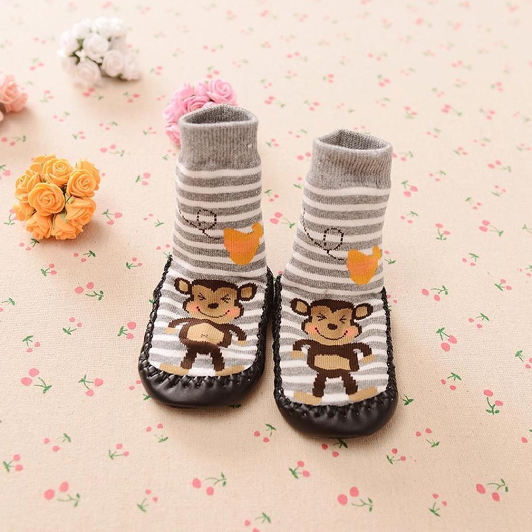 Sole Length 15cm Unisex Newborn Anti-skidding Socks Baby Infant /& Toddler Basic Non-Slip Socks