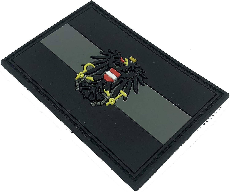 Autriche Armoiries Autrichienne Crest Noir Grau Airsoft PVC Patch