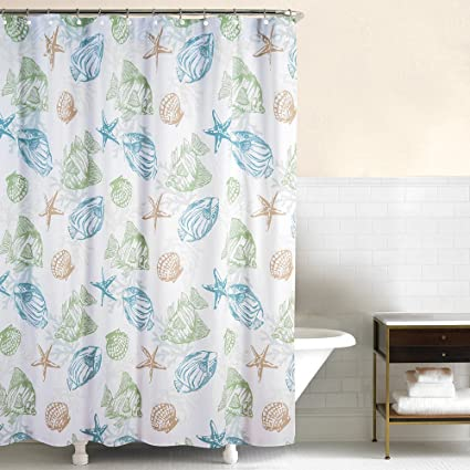 Image Unavailable Not Available For Color Bella Coastal Decor Sea Life Shower Curtain