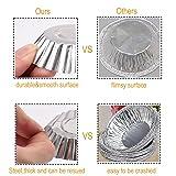 Egg Tart Mold Baking Cups Tins,50pcs Aluminum