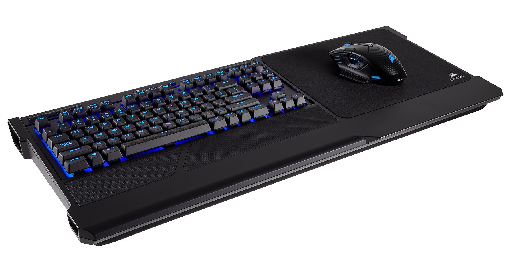 CORSAIR K63 Wireless Mechanical Keyboard & Gaming Lapboard Combo - Game Comfortably on Your Couch - Backlit Blue Led, Cherry MX Red - Quiet & Linear by Corsair (Image #7)
