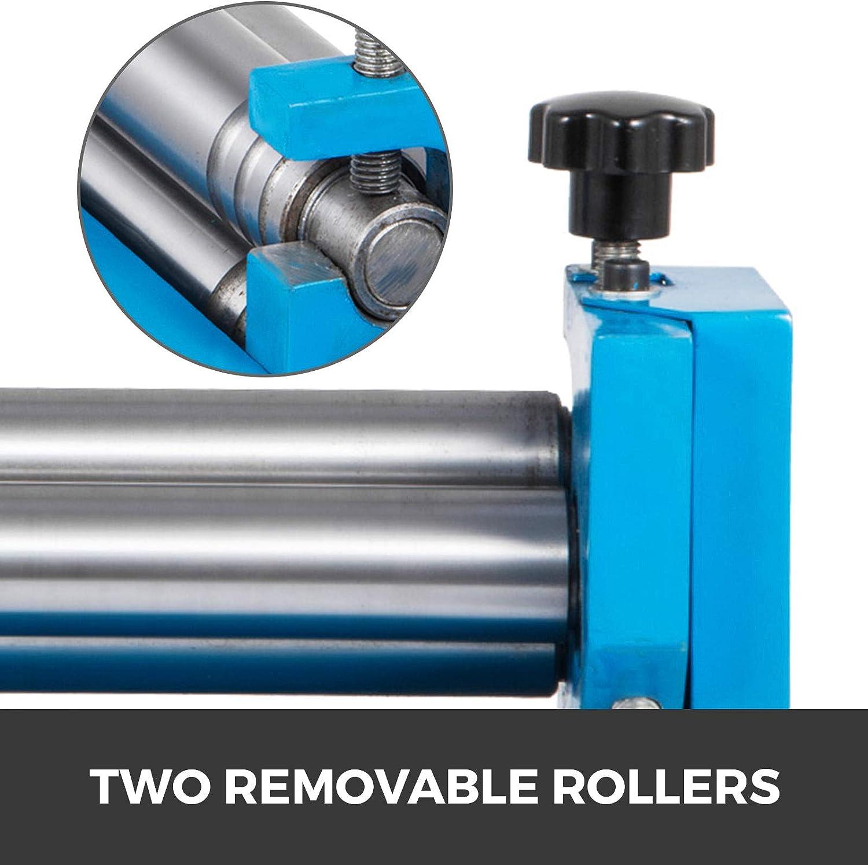 Mophorn SJ 300 Slip Roll Forming Machine Sheet Metal Roller 20 Gauge Mild Steel 12 forming width Crank Handle /& 2 Thickness Adjustment Pins