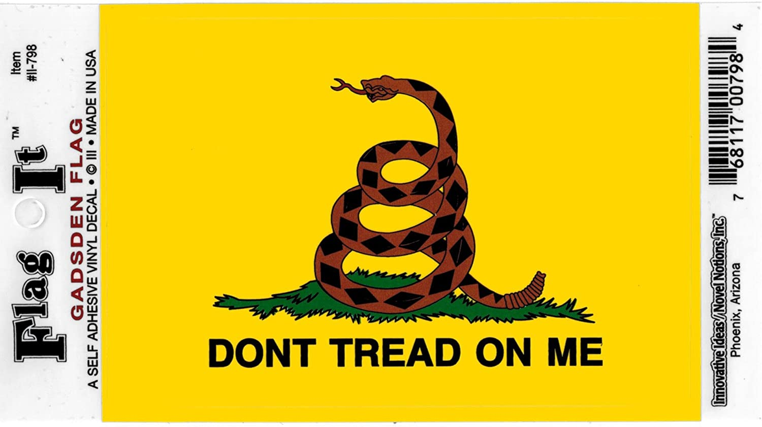 High Gloss Sticker DECAL Innovative Ideas 798 3.5 x 5 Dont Tread on Me Flag Decal